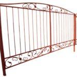распашные ворота с калиткой цена