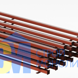 столб квадратный металлический 50х50